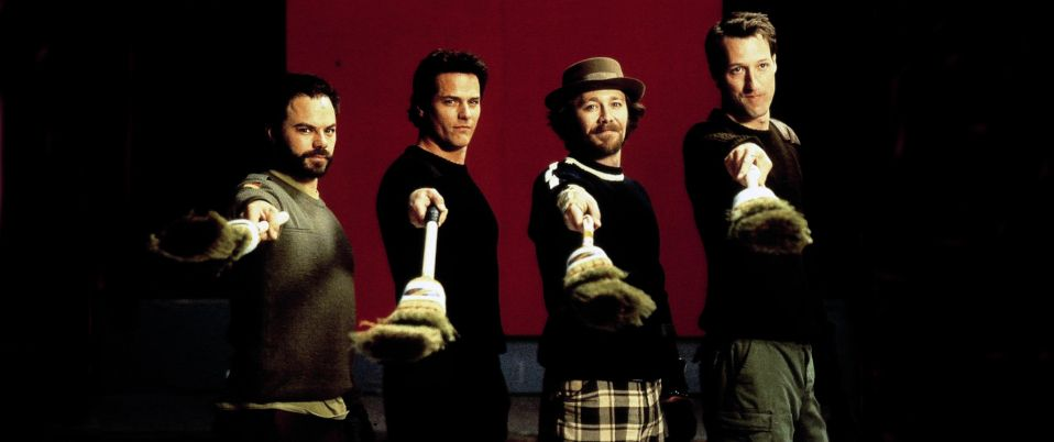 Quatre gars et un balai